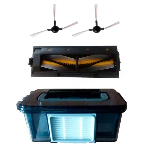 Комплект за модел OBERON / SUZUKA / PERLA / MONACO - контейнер за отпадъци, HEPA, основен фитър, 2 странични четки, централна четка