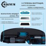 MAGNUM ONE Black - Робот прахосмукачка с БГ приложение и сухо и мокро почистване (черен)