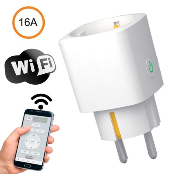 Умен преходник за контакт с WiFi връзка и мониторинг на електроенергията, 16A - САМО ЗА ФИРМИ