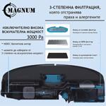 MAGNUM ONE Plus Black - Робот прахосмукачка с БГ приложение (черен цвят)