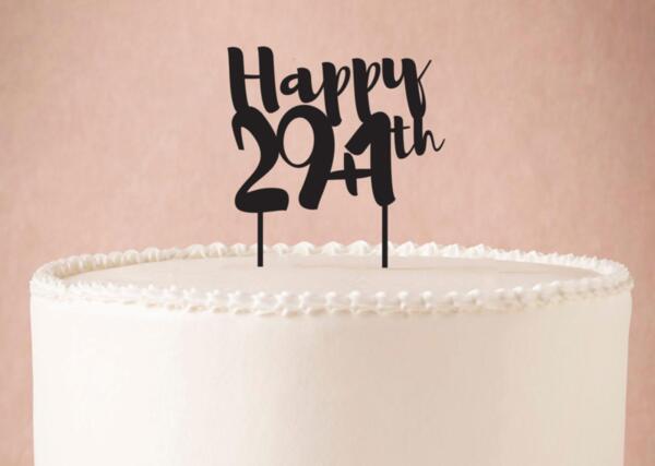 Топер за Торта Happy 29+1th