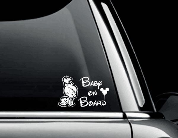 Стикер Baby on Board - Пебълс