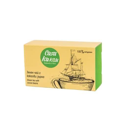 Зелен Чай с Какаови Зърна, 36g, Casa Kakau