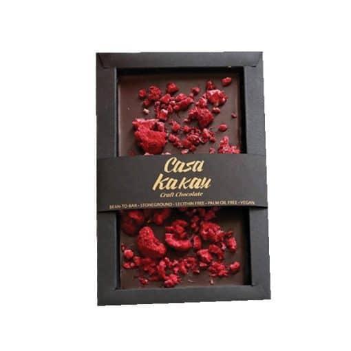 Занаятчийски Ръчен Шоколад с Малини, 70g, Casa Kakau