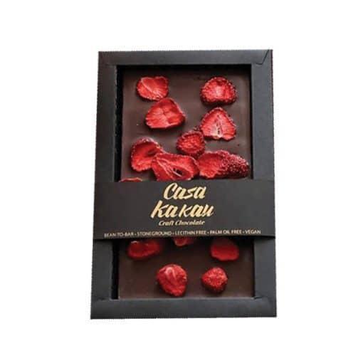 Занаятчийски Ръчен Шоколад с Ягоди, 70g, Casa Kakau