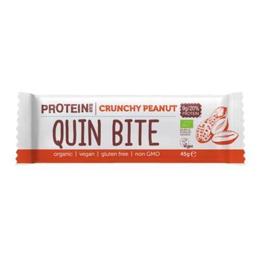 Био Протеиново Барче Хрупкав Фъстък, 45g, Quin Bite