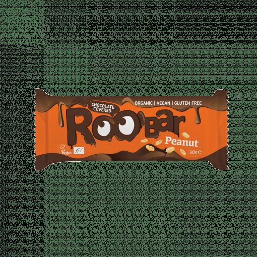 Roobar фъстъчен бар, покрит с шоколад, 30g