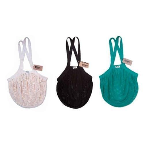 Еко пазарска торба - ситна плетка, различни цветове, Casa Organica