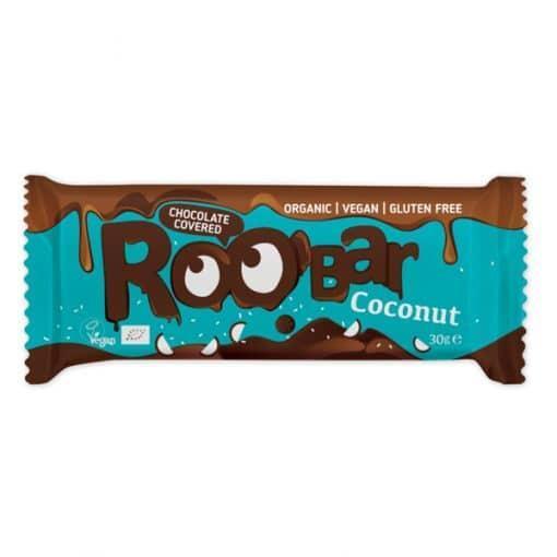 Roobar кокосов бар, покрит с шоколад, 30g