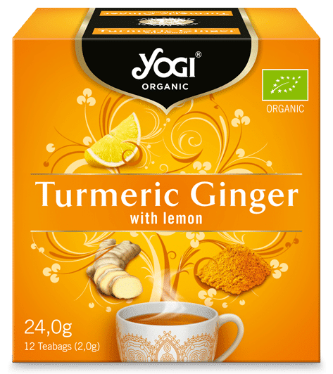 Био Чай Куркума и Джинджифил, Yogi Organic, 12 пакетчета