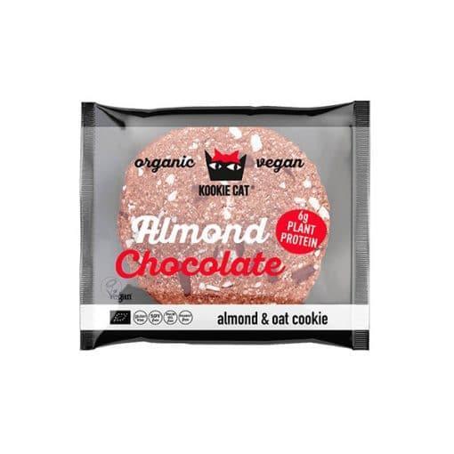 Био Протеинова Курабийка С Бадеми и Черен шоколад, Kookie Cat, 50 g
