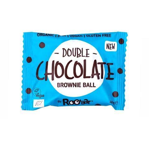 Био Суров Десерт Двоен Шоколад, Brownie Ball, Roobar, 40 g