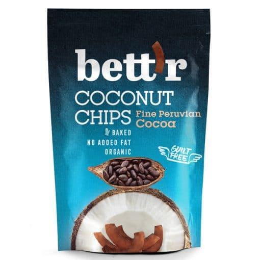 Био Кокосов Чипс с Какао, Bettr, 70 g