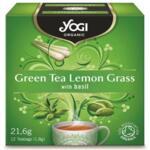 Био Чай Зелен и Лимонена Трева, Yogi Organic, 12 пакетчета