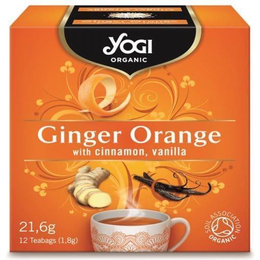 Био Чай Джинджифил и Портокал, Yogi Organic, 12 пакетчета