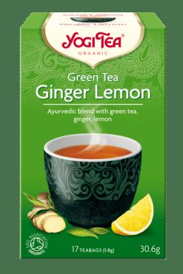 Био Аюрведичен Чай Зелен с Джинджифил и Лимон, Yogi Тea, 17 пакетчета