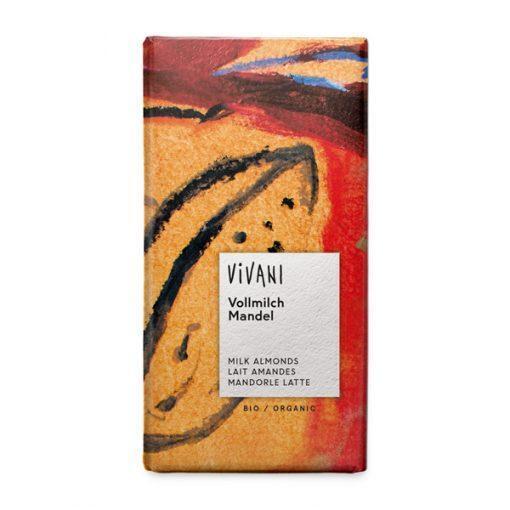 Био Млечен Шоколад с Цели Бадеми, Vivani, 100 g