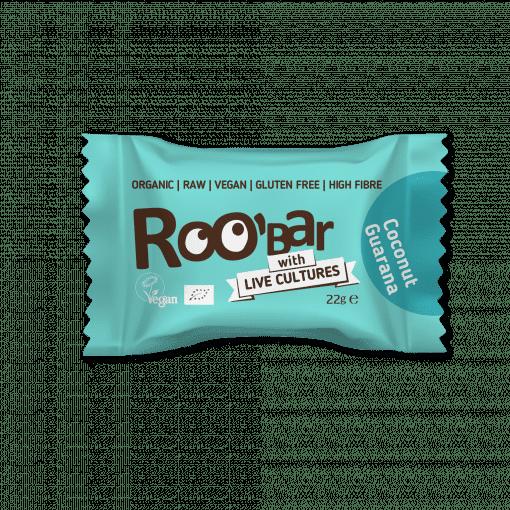 Био Сурови Топчета с Гуарана и Кокос, 22g, Roobar with live cultures