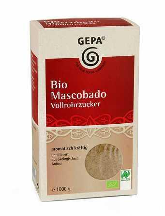 Био нерафинирана тръстикова захар, GEPA, 1kg