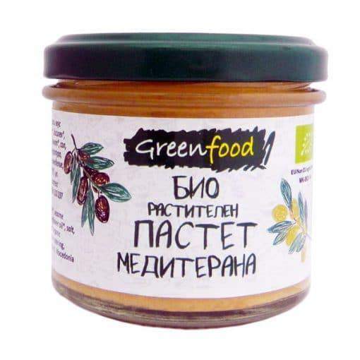 Био Пастет Растителен Средиземноморски, Greenfood, 125 ml