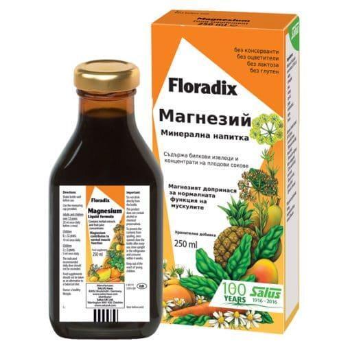 Магнезий, Floradix, 250 ml