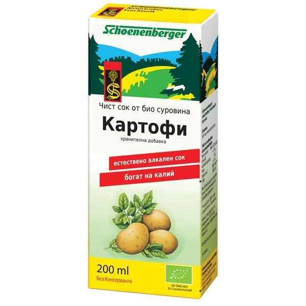 Био Сок от Картофи, Schoenenberger, 200 ml