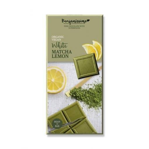 Био Шоколад Матча и Лимон (бял), Benjamissimo, 70 g