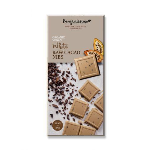 Био Шоколад Какаови Зърна (бял), Benjamissimo, 70 g