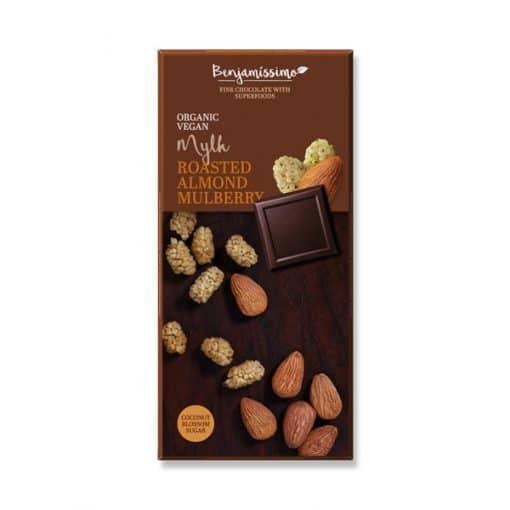 Био Шоколад Печени Бадеми и Черница, Benjamissimo, 70 g
