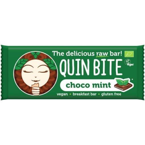 Био Сурово Барче Шоко Мента, Quin Bite, 30 g