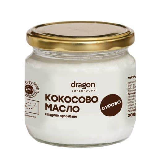 Био Кокосово Масло, студено пресовано, Dragon Superfoods, 300 ml
