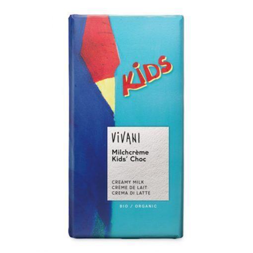 Био Детски Шоколад с Млечен Крем, Vivani, 100 g