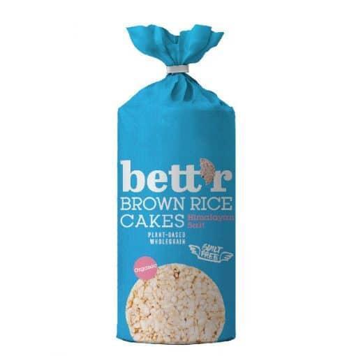 Bett`r Оризовки от кафяв пълнозърнест ориз с хималайска сол, 120 г