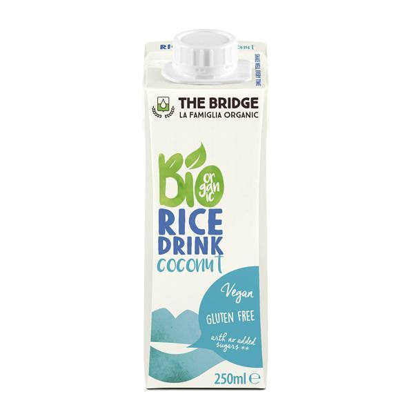 Био Оризова Напитка с Кокос, без глутен, 250ml, The Bridge