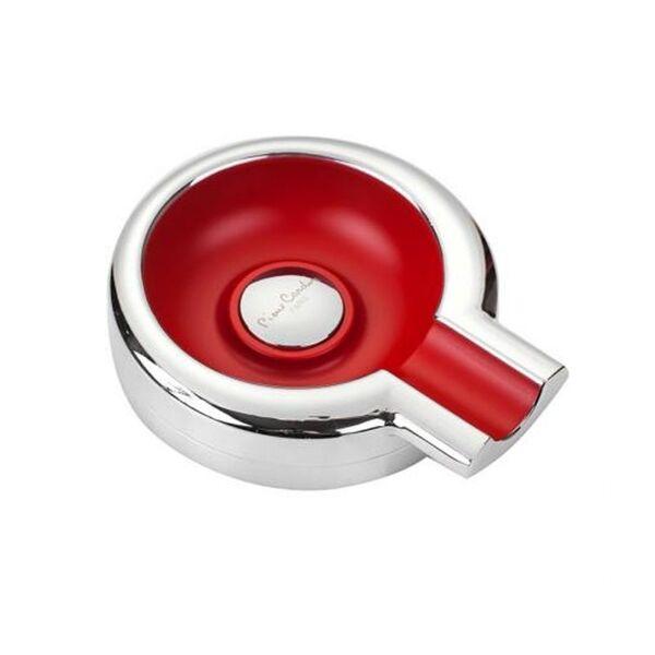 Пепелник за пури - Pierre Cardin - червен/хром