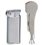 Комплект за лула SKY - запалка  и инструменти за лула, сиви