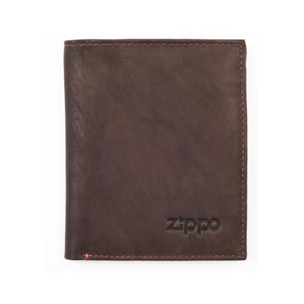 Мъжки портфейл Zippo, вертикален, кафяв