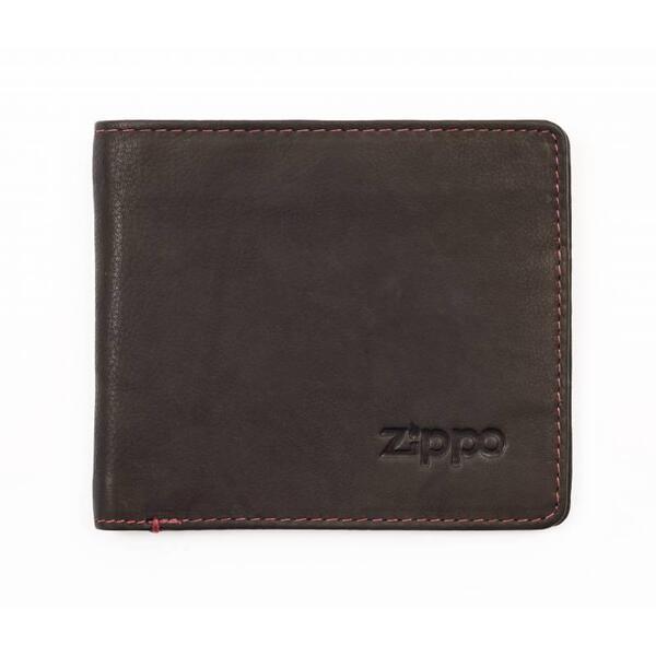 Мъжки портфейл Zippo, хоризонтален, кафяв