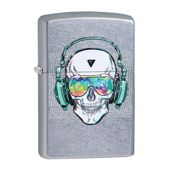 Запалка Zippo 29855 Skull Headphone Design