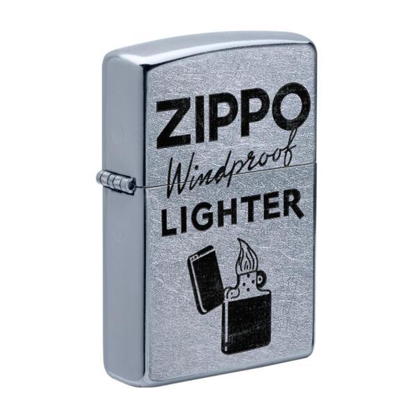 Запалка Zippo 49592 Street Chrome Zippo Logo