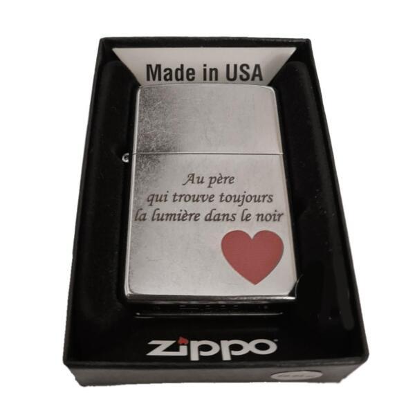 Запалка Zippo Love Street Chrome, С ВЕЧЕ ГРАВИРАН ТЕКСТ