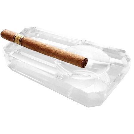 Стъклен пепелник за пури Silver Flame