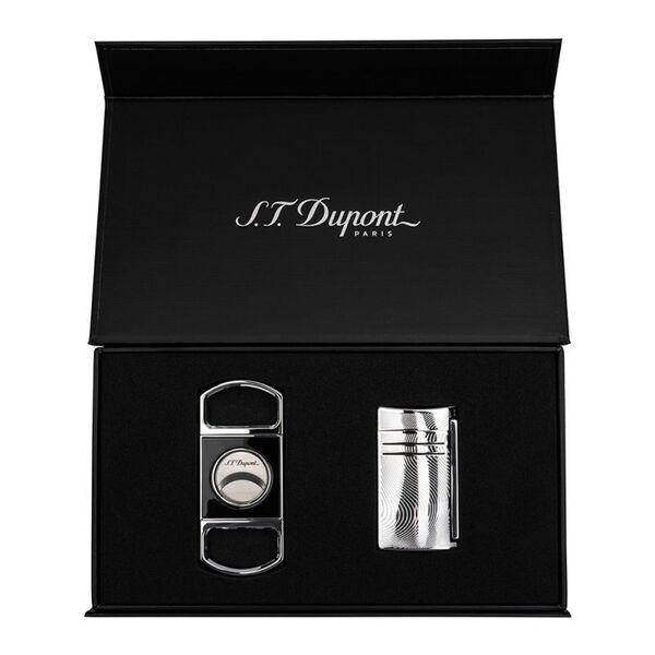 Комплект запалка S.T. Dupont MaxiJet хром + нож за пури
