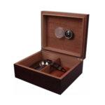 Кутия за пури (хумидор) WinJet, с пепелник, резачка и калъф за пури, кафява