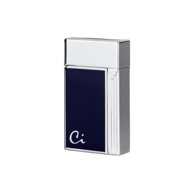Запалка Caseti Soleil, хром/синьо