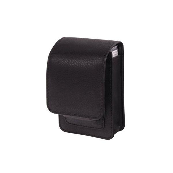 Кожен калъф за цигарена кутия WinJet, с място за запалка, черен