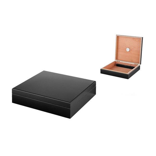 Кутия за пури (хумидор) Winjet - Кедър, черен гланц