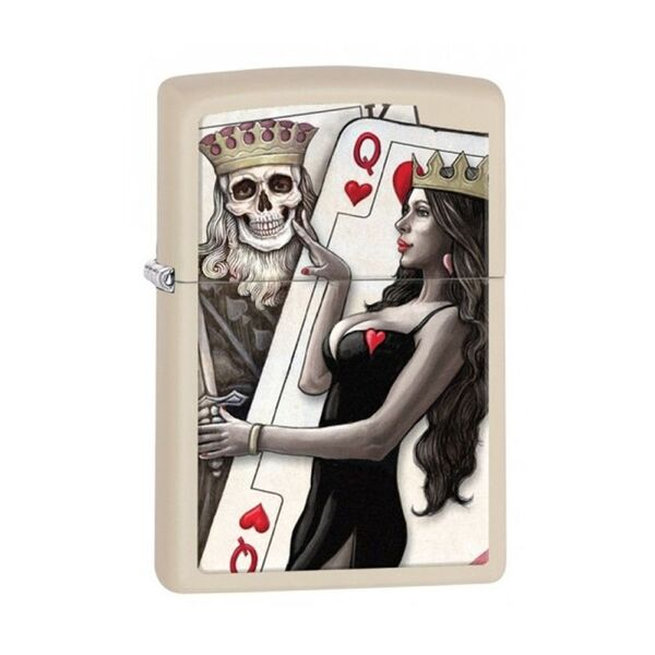 Запалка Zippo Skull, King, Queen Beauty