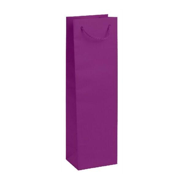 Подаръчен плик подходящ за бутилка, лилав