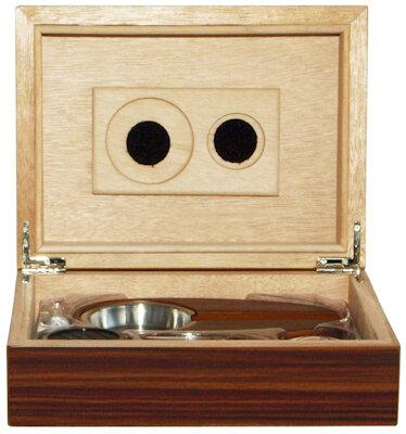 Кутия за пури (хумидор) ZORR, с пепелник и резачка, махагон